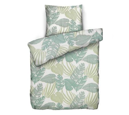 Soft Wave Mf Seersucker Bettwäsche Palmenblätter Einzelbett 2tlg