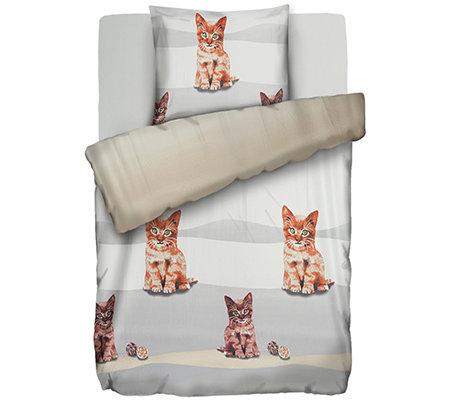 Jerymood Mf Jersey Interlock Bettwäsche Katzen Einzelbett3 Tlg