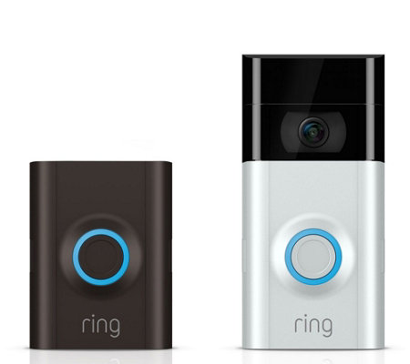 Ring Video Doorbell 2, HD Surveillance 2-Way Talk and 3-Year Warranty