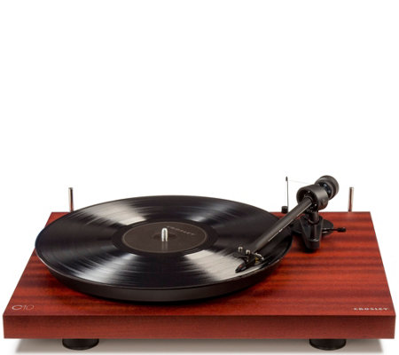 Crosley Radio Two Speed Manual Turntable Deck Mahogany