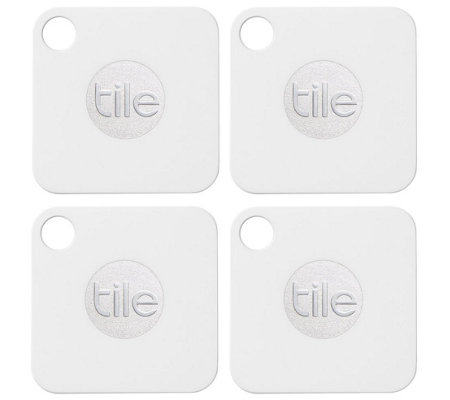 Tile Mate Bluetooth Tracker - 4-Pack