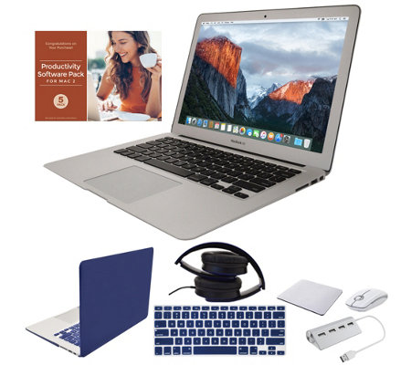 "Apple MacBook Air 13"" Laptop w/ Clip Case, Headphones and Accessories"