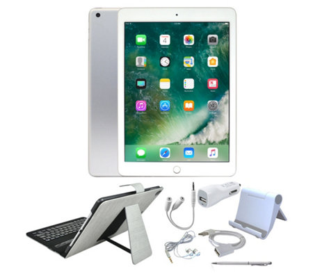 "All-New 2018 Apple iPad 9.7"" Wi-Fi Tablet w/ Folio Keyboard Case and More"