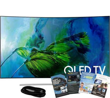 "Samsung 55"" QLED Curved 4K HDR Elite Smart UHDTV w/ App Pack"