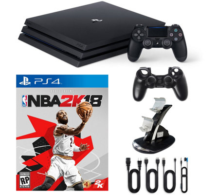 PS4 1TB Pro Console with NBA 2K18 andAccessories