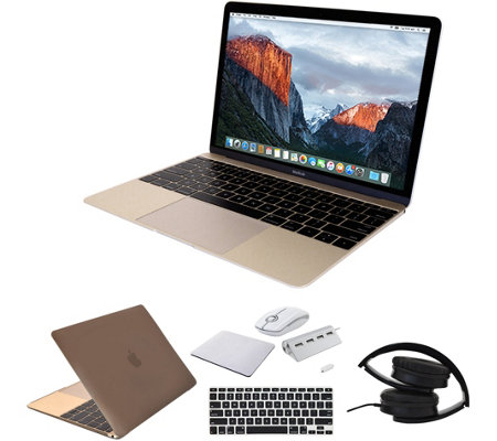 "Apple 12"" MacBook - 8GB RAM, 256GB SSD, Accessories - Gold"