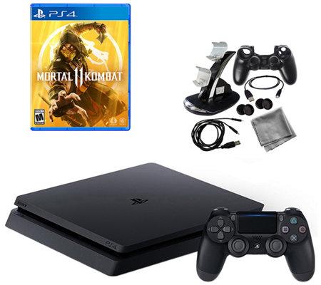 PS4 Slim 1TB Mortal Kombat 11 w/ 9-in-1 Kit — QVC com