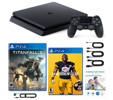 Sony PS4 Slim 1TB with Madden 19, Titanfall 2 and Voucher
