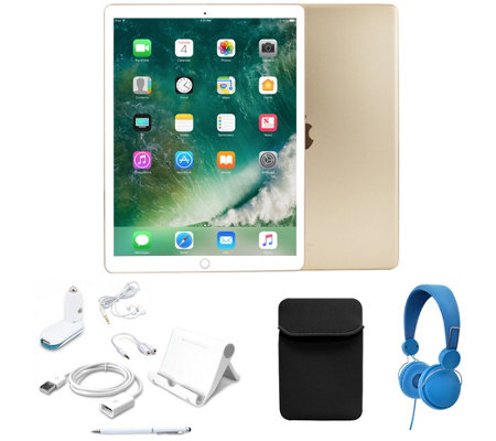 "Apple iPad Pro 9.7"" 256GB Wi-Fi with Headphones- Gold"