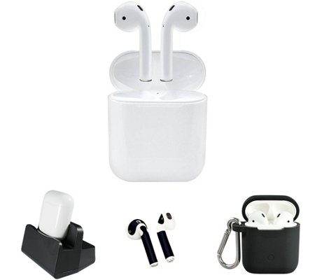 337b6909580 Apple AirPods with Charging Stand & Accessories - Page 1 — QVC.com