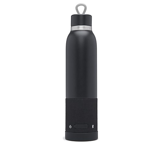 iHome Aquio Insulated Hydration Bottle w/ Waterproof Speaker