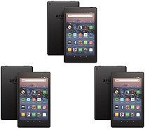 "All-New Amazon Fire 8"" 16GB 3-Pack of Tablets with Case Voucher - E232704"