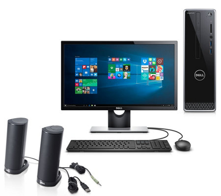 "Dell Inspiron Desktop w/ 22"" Monitor, Mouse, Keyboard and Speakers"