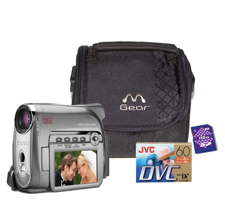 canon zr700 minidv camcorder with case tape 128mb sd card qvc com rh qvc com Canon Cameras Digital Canon EOS 400D