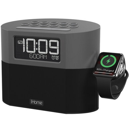 iHome Bluetooth Clock Radio with Apple Watch Charging