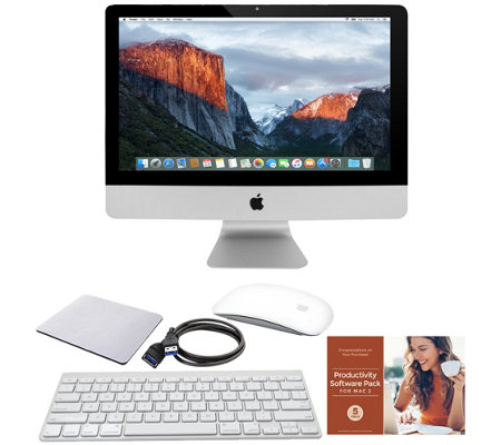 "Apple iMac 21"" 1.6GHz Core i5 Dual-Core 8GB RAM 1TB HDD w/ Accessories"