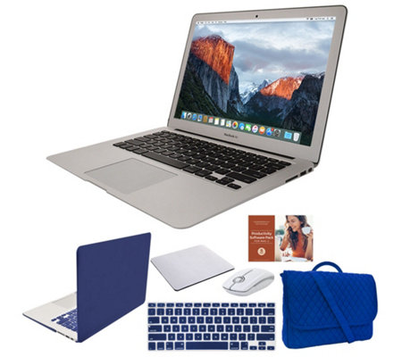 "Apple MacBook Air 13"" Laptop with Clip Case, Wireless Mouse and Accessories"