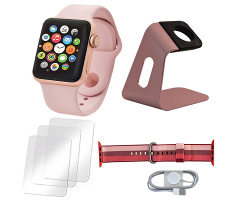 Apple Watch Series 3 38mm with Extra Nylon Band and Accessories