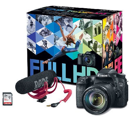 Canon EOS 70D DSLR Camera & Video Creator Kit