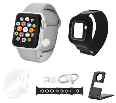 Apple Watch Series 3 42mm Sport Bundle w/ Extra Band & Accessories