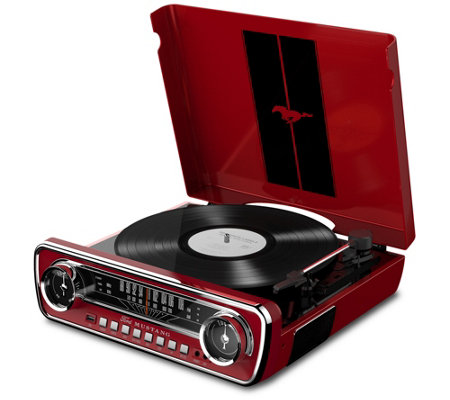 ION Audio Ford Mustang LP Classic Car-Styled Turntable