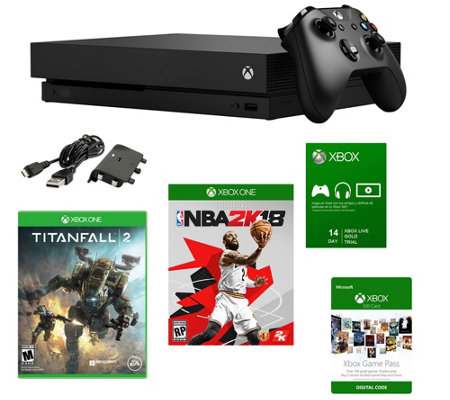 Xbox One X 1TB Console with NBA 2K18, Titanfall2 & More