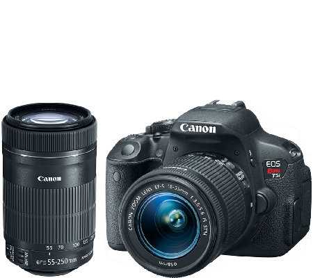 Canon EOS Rebel T5i 18 Megapixel DSLR Camera with 2 Lenses