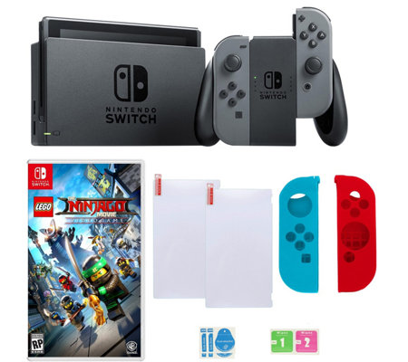 Nintendo Switch in Gray with Lego Ninjago Gameand Accessories
