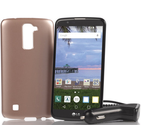 "LG Premier TracFone 5.3"" Smartphone with 1350 Minutes Text & Data"