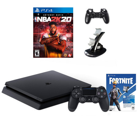 Sony PS4 Slim 1TB Console with Fortnite Neo Versa & NBA 2K20