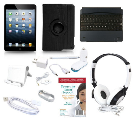 Apple iPad Mini2 Retina` 32GB WiFi with 7pc Starter Kit Keyboard & Case