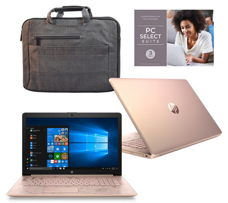 "HP 15"" Laptop AMD A9 8GB RAM 2TB HDD with Office 365 & Laptop Bag"