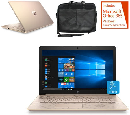 "HP 17"" Touch Laptop Intel i3 8GB RAM 1TB HDD w/ Office & Bag"