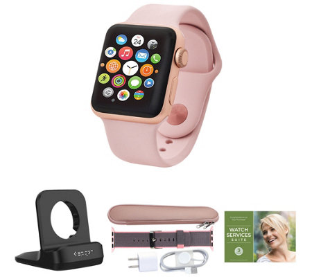 Apple Watch GPS Series 3 38mm w/ Extra Band, Accessories & Voucher
