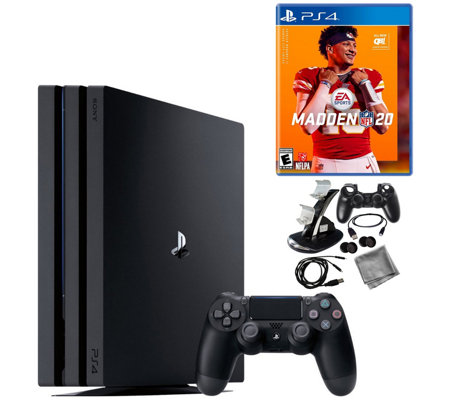 PS4 Pro 1TB Console with Madden NFL 20 and9-in-1 Kit