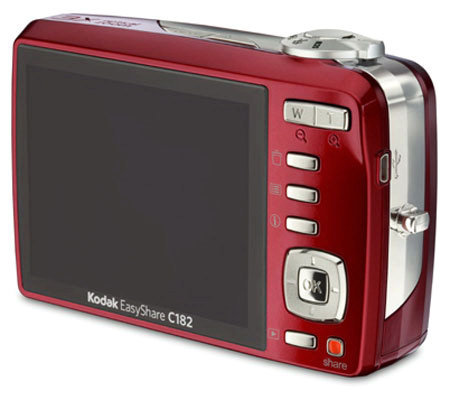 kodak easyshare c182 12mp 3x optical zoom digital camera red qvc com rh qvc com Kodak EasyShare Printer Dock Kodak EasyShare Software