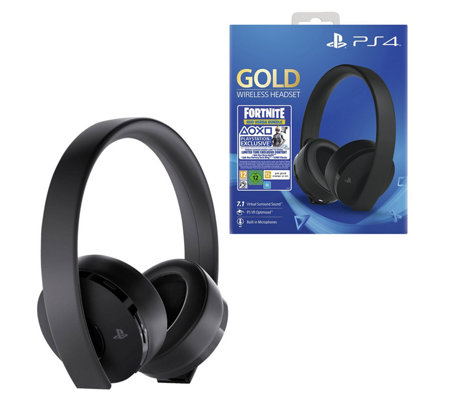 Ps4 Gold Wireless Headset With Fortnite Neoversa Bundle Qvccom