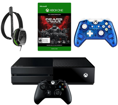 Xbox One 500GB Gears of War Bundle, Headset, Extra Controller