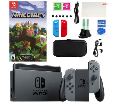 Nintendo Switch with Minecraft and AccessoriesKit