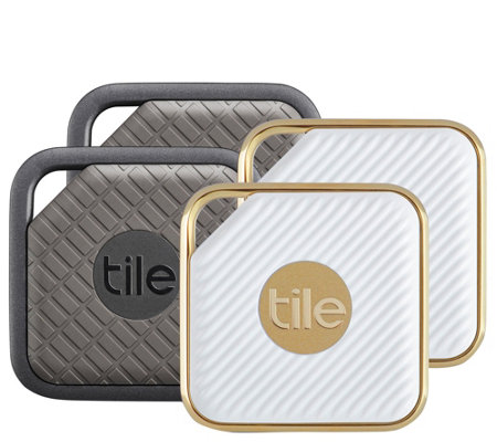 Tile Pro Series Item Trackers 4-Pack, Sport & Style Edition w/ Gift Sleeves