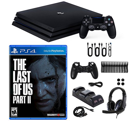 Ps4 Pro 1tb Bundle With Last Of Us Part Ii Game Accessories Qvc Com