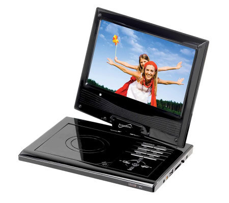 "SuperSonic SC-178 7"" Portable DVD Player with Swivel Display"