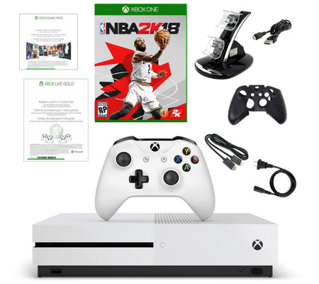 Xbox One S 500GB Console with NBA 2K18 and Accessories