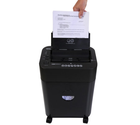 Royal 8-sheet Micro-Cut Paper Shredder with 80-sheet Auto-Feed Tray