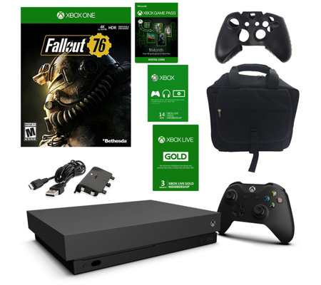Xbox One X 1TB Console with Fallout 76, 3-MonthXbox Live Gold — QVC com