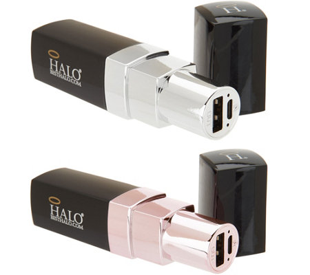 HALO Set of 2 Lipstick 3000 Portable Chargers