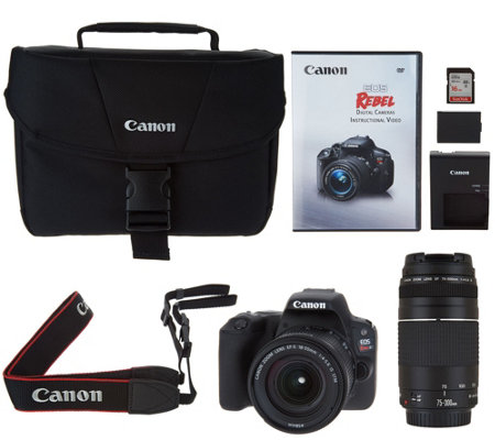 Canon Rebel SL2 DSLR Camera with 18-55mm, 75-300mm Lenses and Accessories