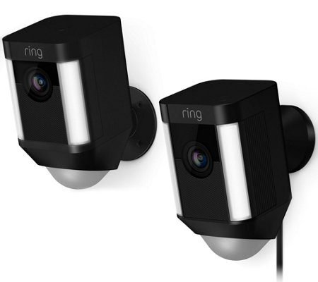 Ring Spotlight Cam w/ Motion Detection, HD Video, Lights & Two-Way Audio