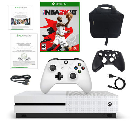 Xbox One S 500GB Console with NBA 2K18 & Three-Month Game Pas