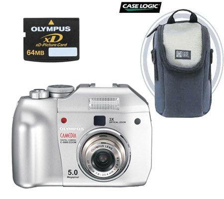 olympus camedia c 5000 5 0mp digital camera w xd card bag qvc com rh qvc com olympus camedia c-5000 zoom manual Olympus Camedia 575